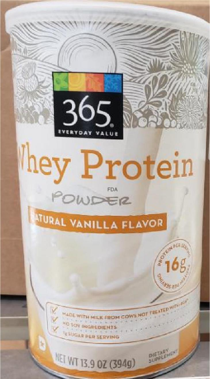 365 Everyday Value Whey Protein Powder Recalled For Soy