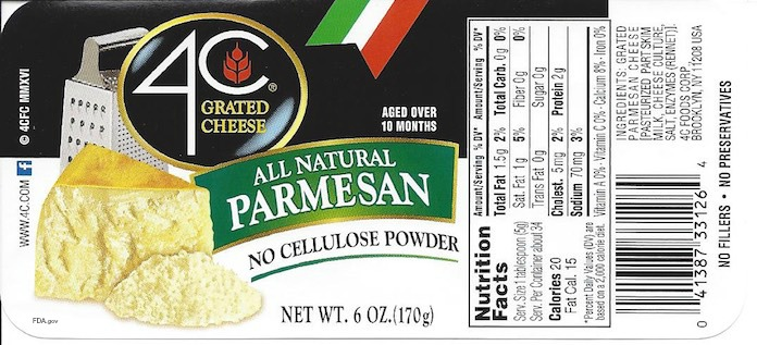 4C Grated Cheese Salmonella Recall