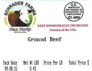Schrader Farms Ground Beef Recall