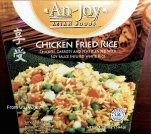 ANJOY Chicken Fried Rice Listeria Recall