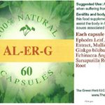 Al-Er-G Capsules Recalled for Ephedra
