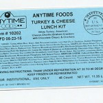 Anytime Foods Turkey Lunch Kit Recalled for Undeclared Egg