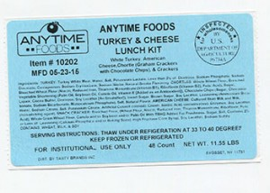 Anytime Foods Turkey Lunch Kit Recall
