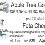 Goat Cheese from PA Apple Tree Dairy Recalled for Listeria