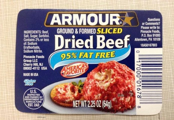 Armour Dried Beef Recall