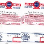 Atlas Meat Company Recalls Pork Sausage for Misbranding