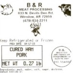 B & R Meat Recalling Pork Products for Possible Staphylococcal Contamination