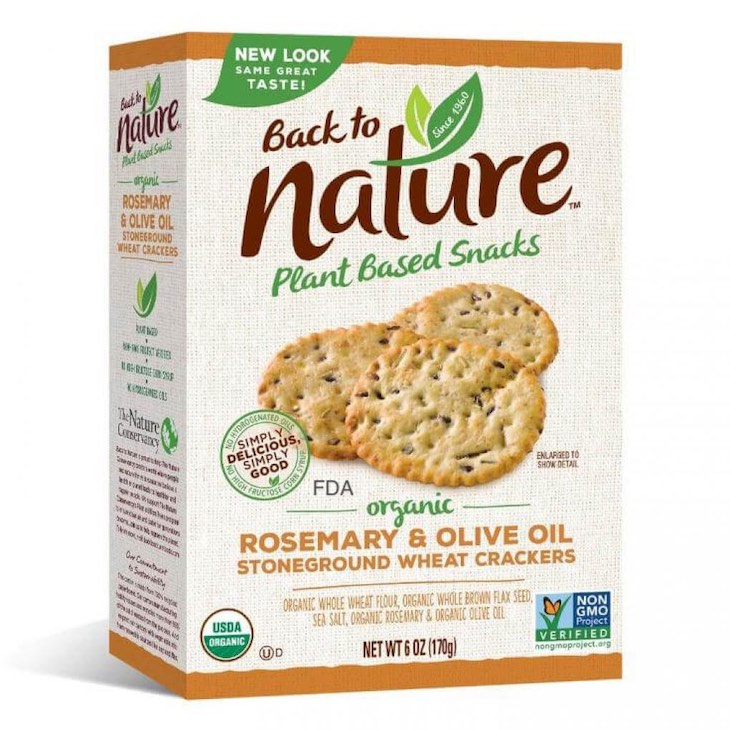 Back to Nature Organic Rosemary & Olive Oil Wheat Crackers Recalled