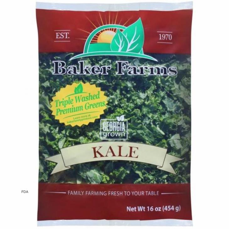 Baker Farms Kale Sold Under Different Brand Names Reclled For Listeria