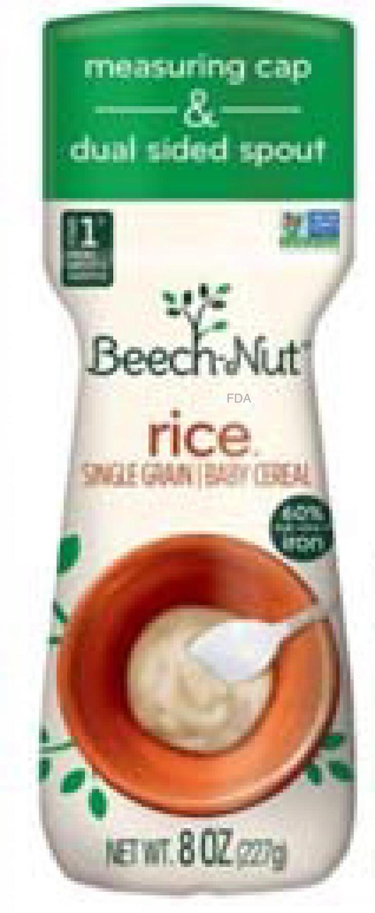 Beech-Nut Rice Baby Food is Recalled For High Inorganic Arsenic