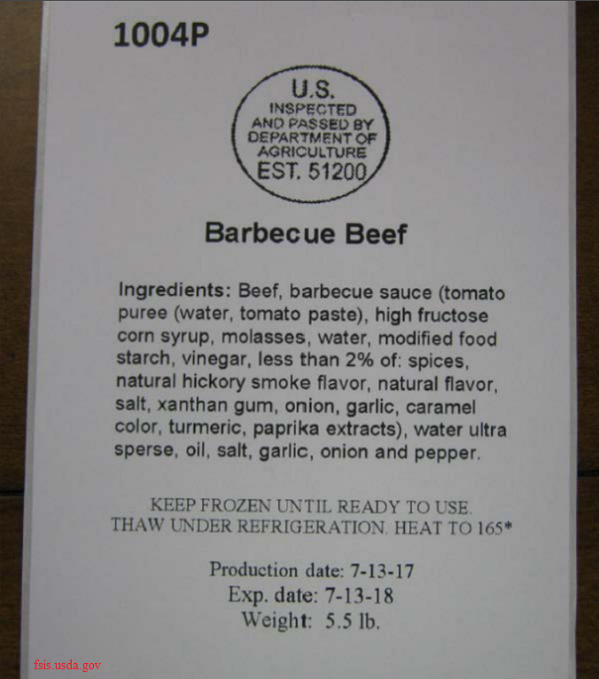 Frozen meats recalled by Blossom Foods, LLC