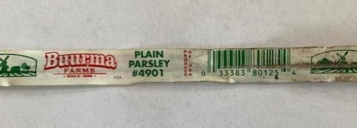 Buurma Flat Leaf Parsley Recalled For Possible non-O157 E. coli