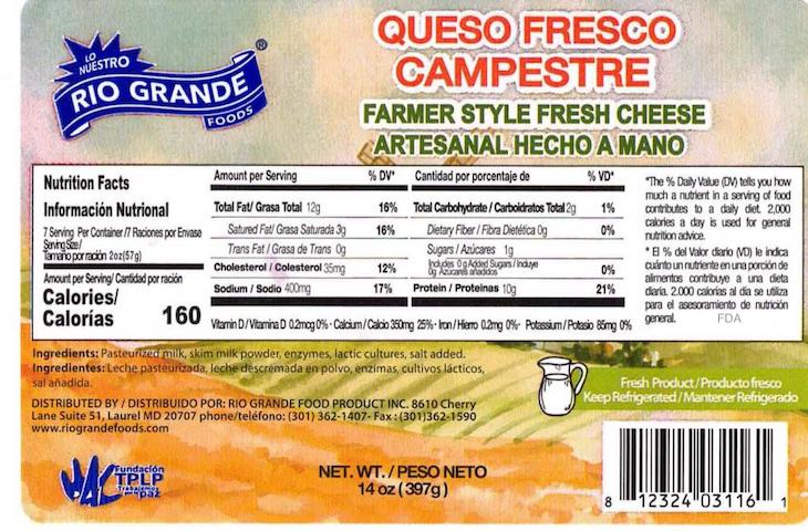 CDC: Do Not Eat El Abuelito Cheese For Possible Listeria Contamination