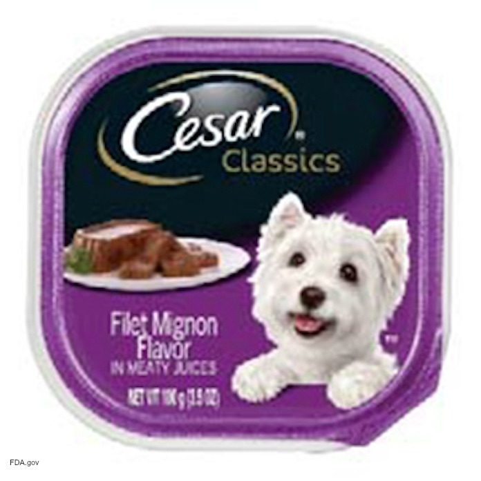 Cesar Classics Dog Food Recall