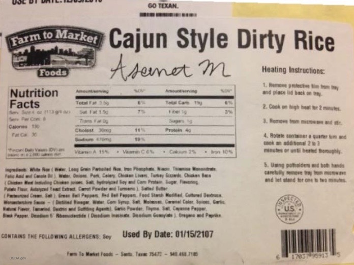Cajun Dirty Rice Recall
