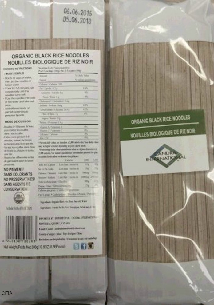 Candra Rice Noodles Recall