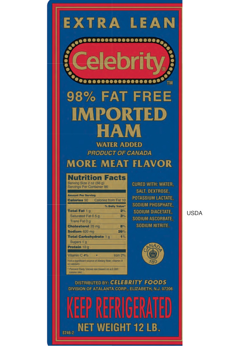Celebrity Imported Ham Recalled For Possible Salmonella Contamination