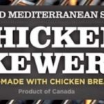 Chicken Skewers Recalled for Possible Listeria Contamination