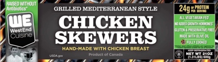 Chicken Skewers Recall