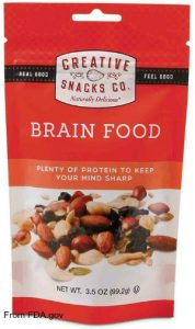 Creative Snacks Brain Food Listeria Recall