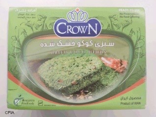 Crown Dried Coco Herbs Salmonella Recall