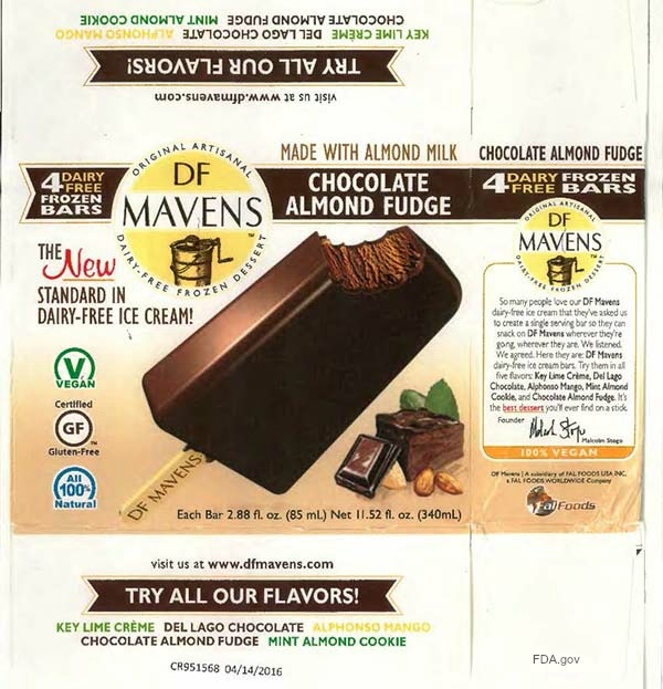 DF Mavens Frozen Fudge Bar Recall