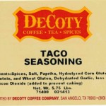 Decoty Recalls Taco Seasoning for Undeclared Soy