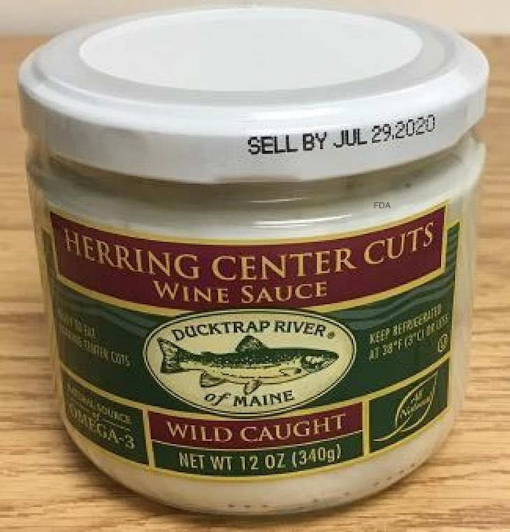 Ducktrap River Herring Center Cuts Recalled For Undeclared Milk