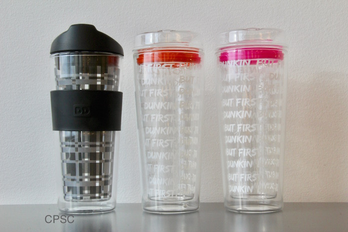 Dunkin Donuts Glass Tumblers Recall