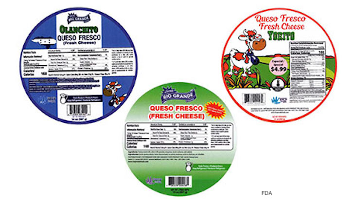 El Abuelito Quesillo and Requeson Cheeses Recalled For Listeria Risk