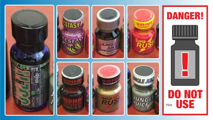 FDA Warns Consumers Against Consuming Nitrite Poppers