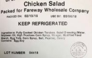 Fareway Chicken Salad, Made by Triple T Specialty Meats, Recalled for Possible Salmonella Contamination