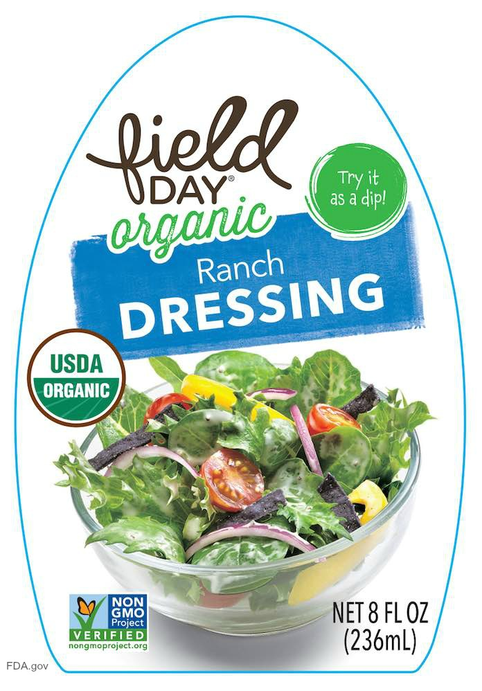 Field Day Ranch Dressing Recall
