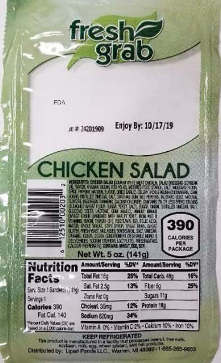 Lipari, Premo, and Fresh Grab Chicken Salad Recalled For Listeria
