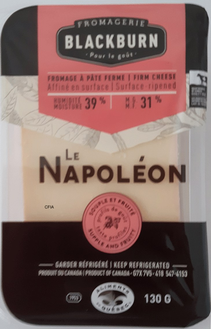 Fromagerie Blackburn Le Napoléon Cheese Recalled For Listeria