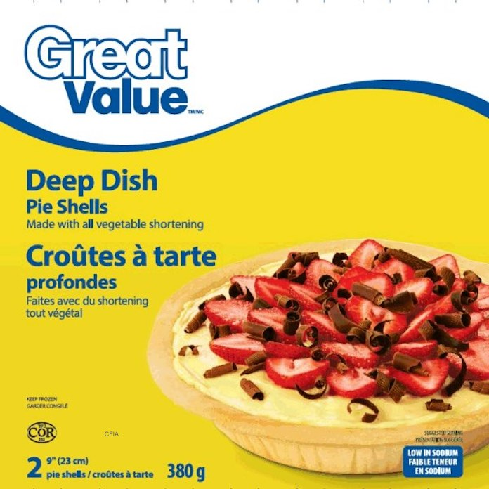 Great Value Pie Shell E. coli O121 Recall