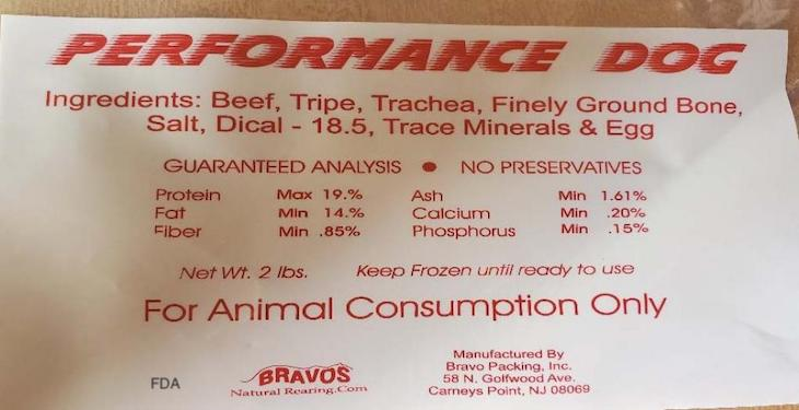 Ground Beef and Performance Dog Raw Pet Food Recalled For Pathogens