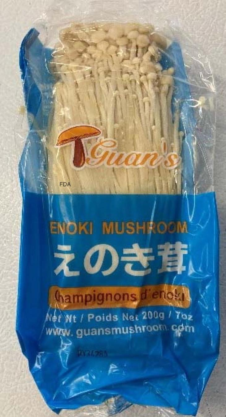 Guan's Enoki Mushrooms Recalled For Possible Listeria Contamination