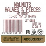 Hines Recalls Walnuts for Possible Salmonella