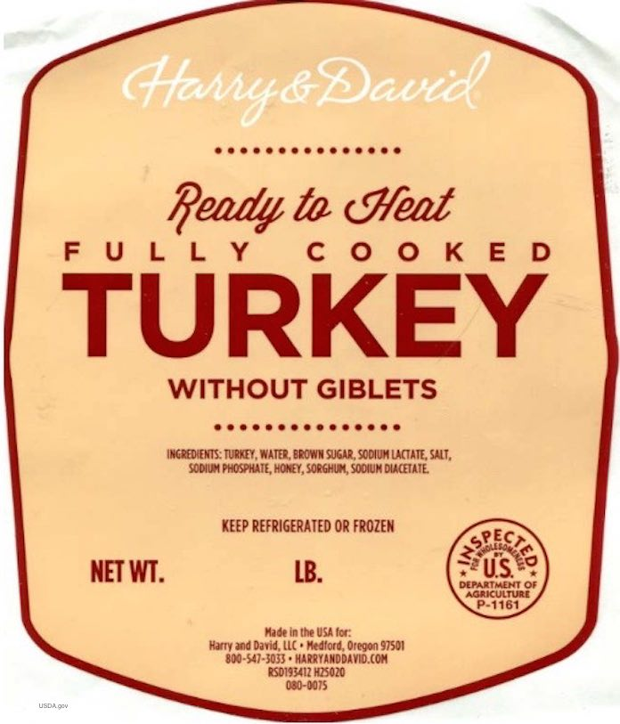 Harry & David Turkey Recall