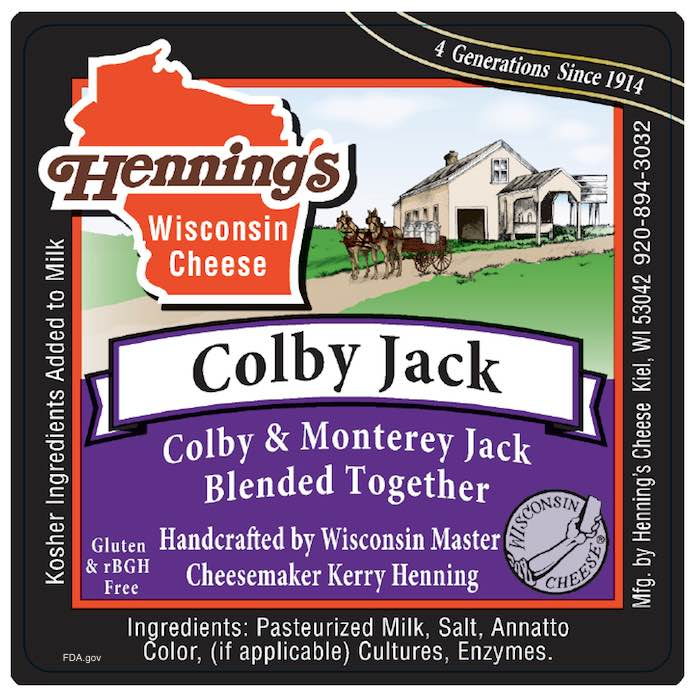 Henning's Colby Jack Cheese Recall