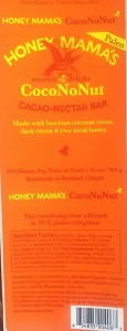 Honey Mama's CocoNoNut Cacao-Nectar Bar Recall
