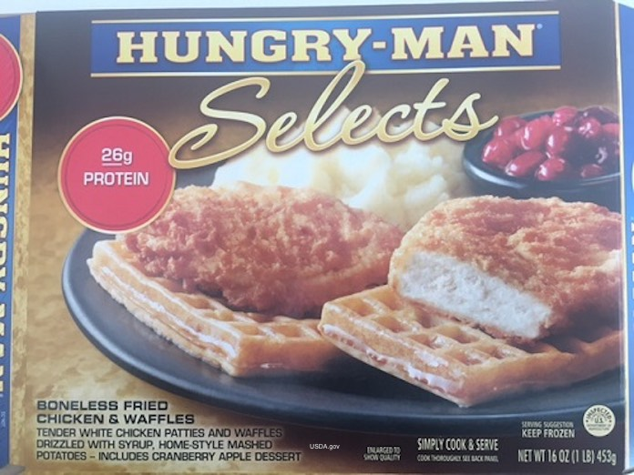 Hungry Man Fried Chicken & Waffles Listeria Recall