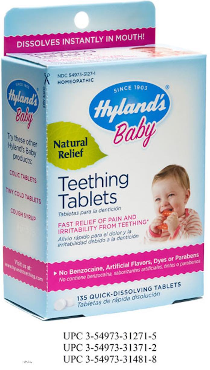 Hyland's Baby Teething Tablets Recall