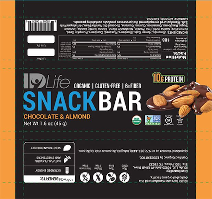 IDLife Snack Bar Recall