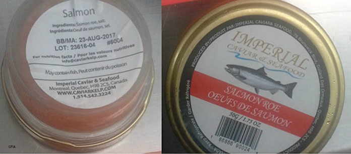 Imperial Salmon Roe Botulism Recall