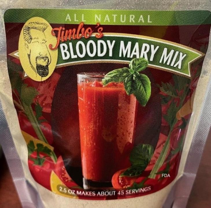 Jimbo's Bloody Mary Mix Recalled For Undeclared Allergens