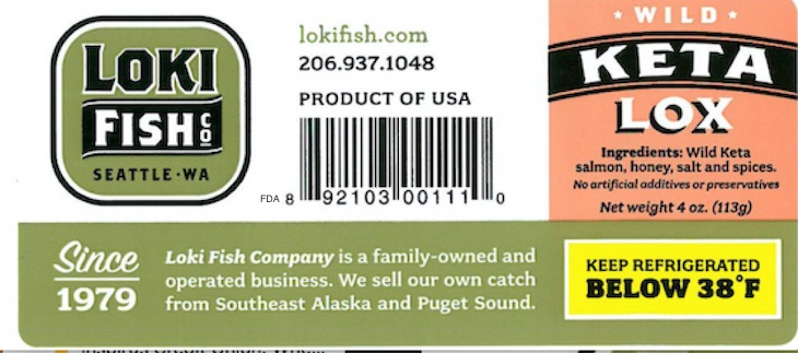 Keta Salmon Lox Is Recalled For Possible Listeria Contamination