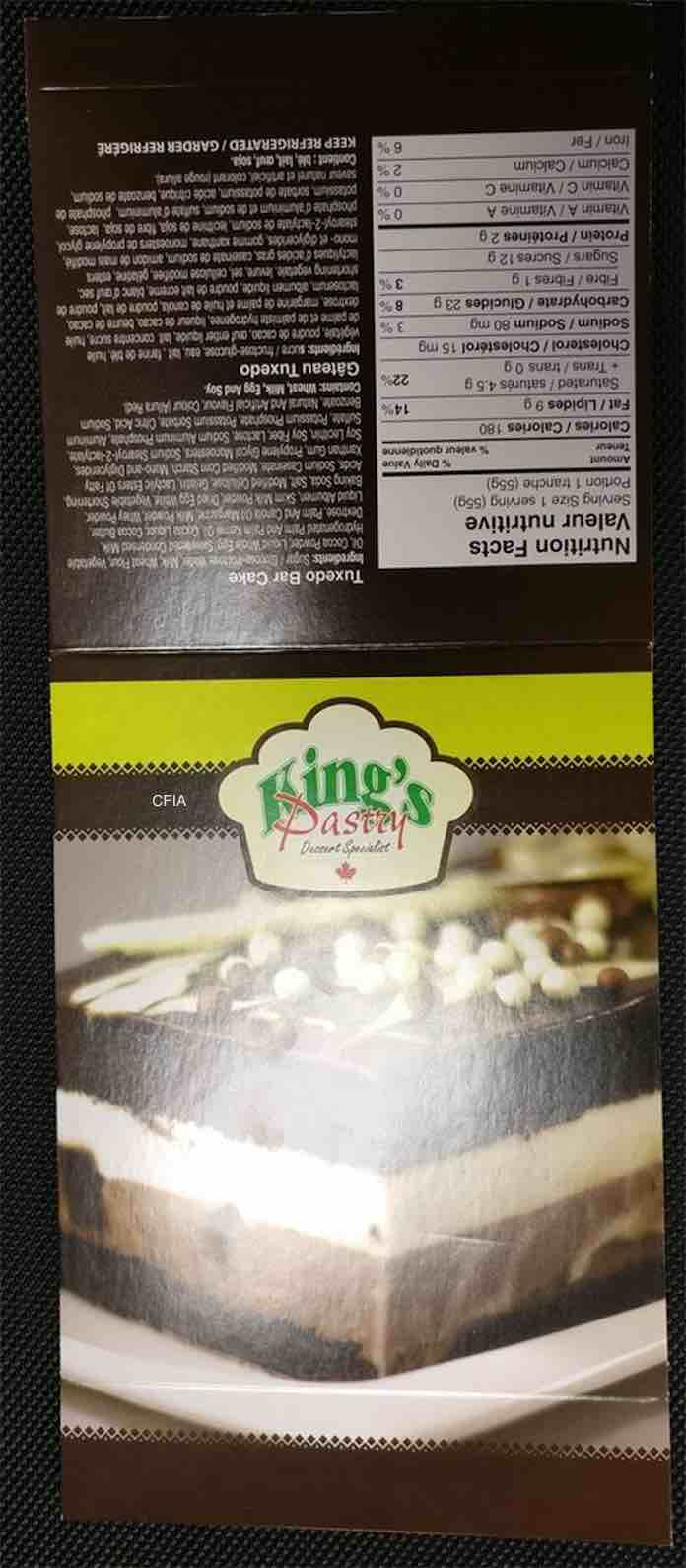 King's Pastry Recall