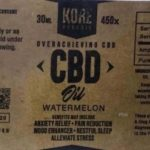Kore Organic Watermelon CBD Oil Recalled For High Lead Levels